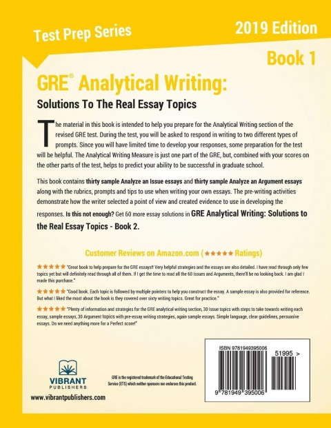 014 71jdwmhr38l Gre Essay Remarkable Topics Pdf Analytical Writing Grader Issue Pool Solutions 480