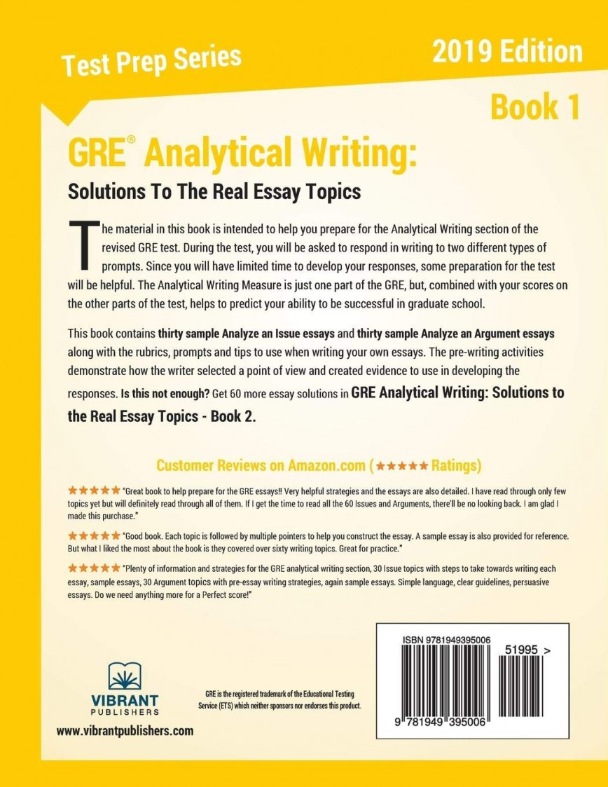 014 71jdwmhr38l Gre Essay Remarkable Topics Pdf Analytical Writing Grader Issue Pool Solutions 868