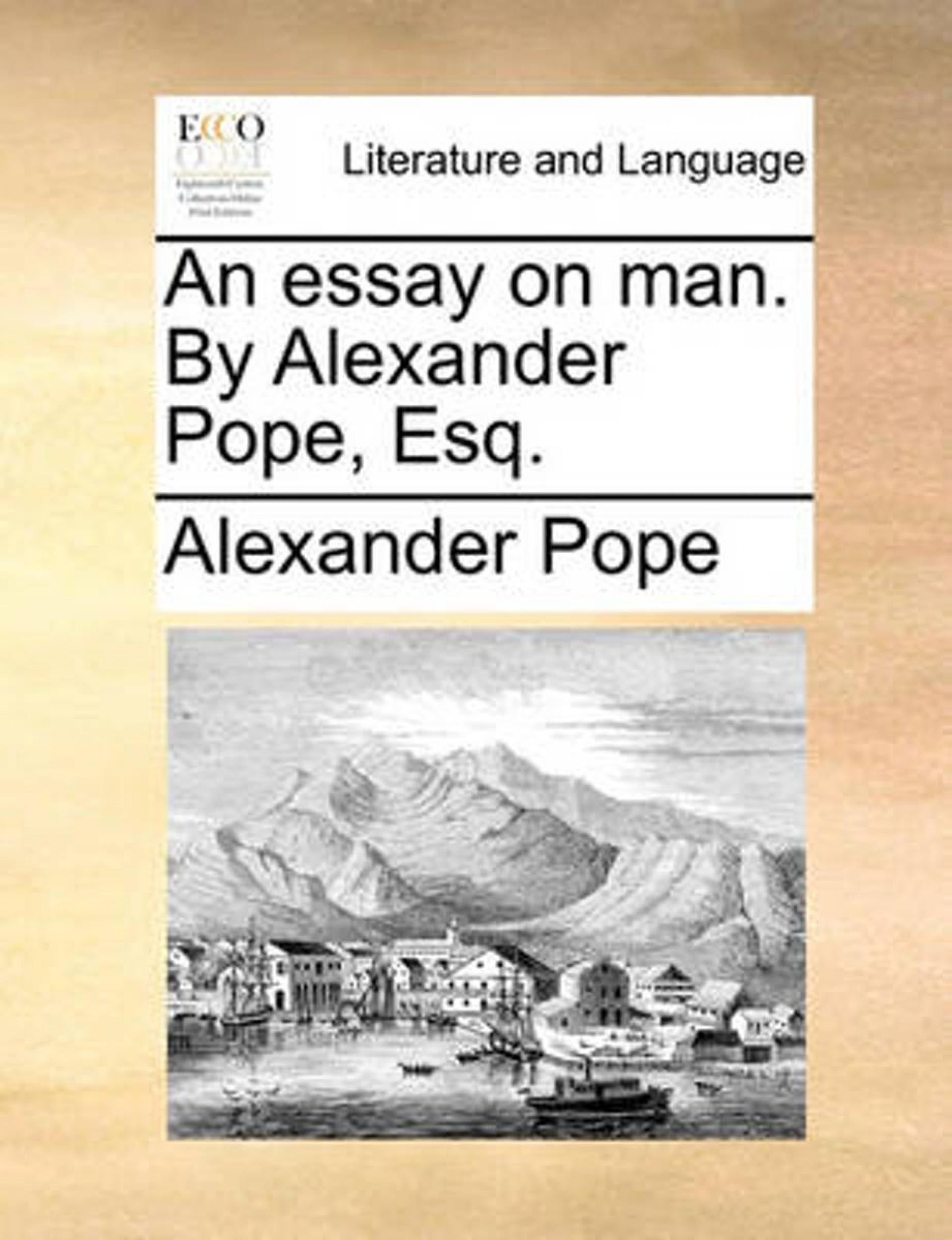 014 Alexander Pope Essay On Man Dreaded Summary Epistle 2 Pdf 1920
