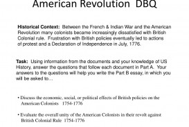 014 American Revolution Essay Example Dbq Fascinating Causes Of The Conclusion Outline Introduction