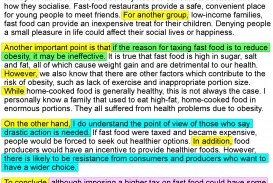 014 An Opinion Essay About Fast Food 4 How To Write Fascinating Academic English In Exam