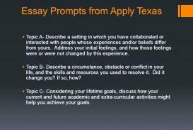 014 Apply Texas Essay Topics For Falls Essays Applytexas Word Limit Topic Impressive Fall 2015