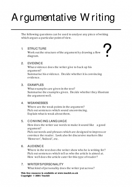 014 Argumentative Essay Structure Format Persuasive Topics Argument Igcse Example Pdf Rebuttal Esl Ielts Outline Ppt Imposing Worksheet Large