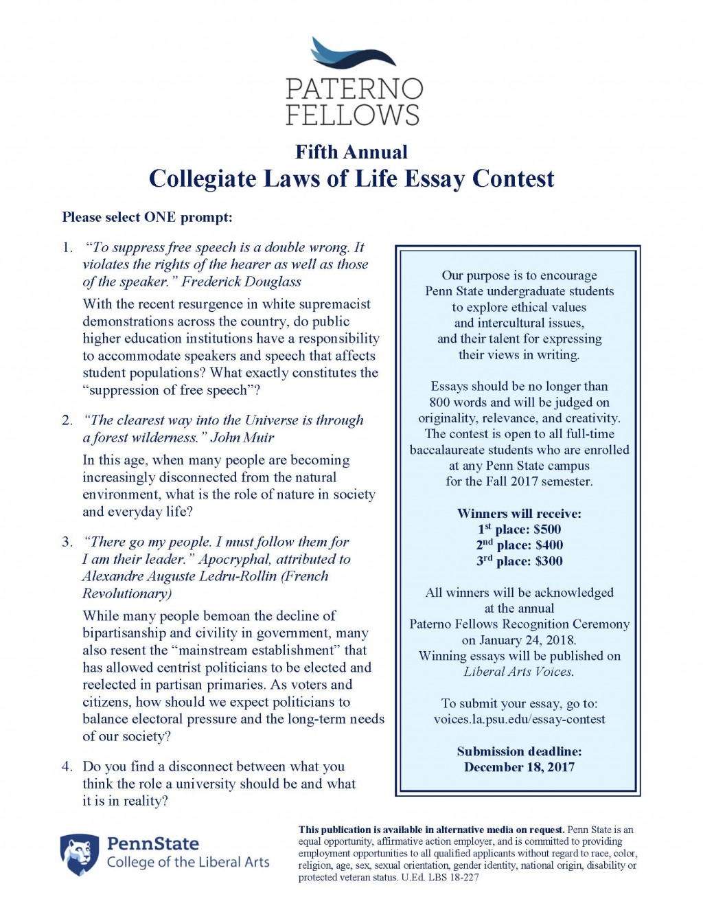 014 Clol Essay Flyer 2i7pwcs Example Law Of Awesome Life Laws Contest Ohio 2016 Competition Bahamas 2018 Large