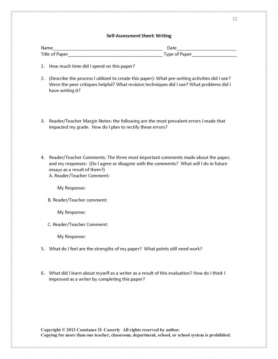 Evaluative essay structure