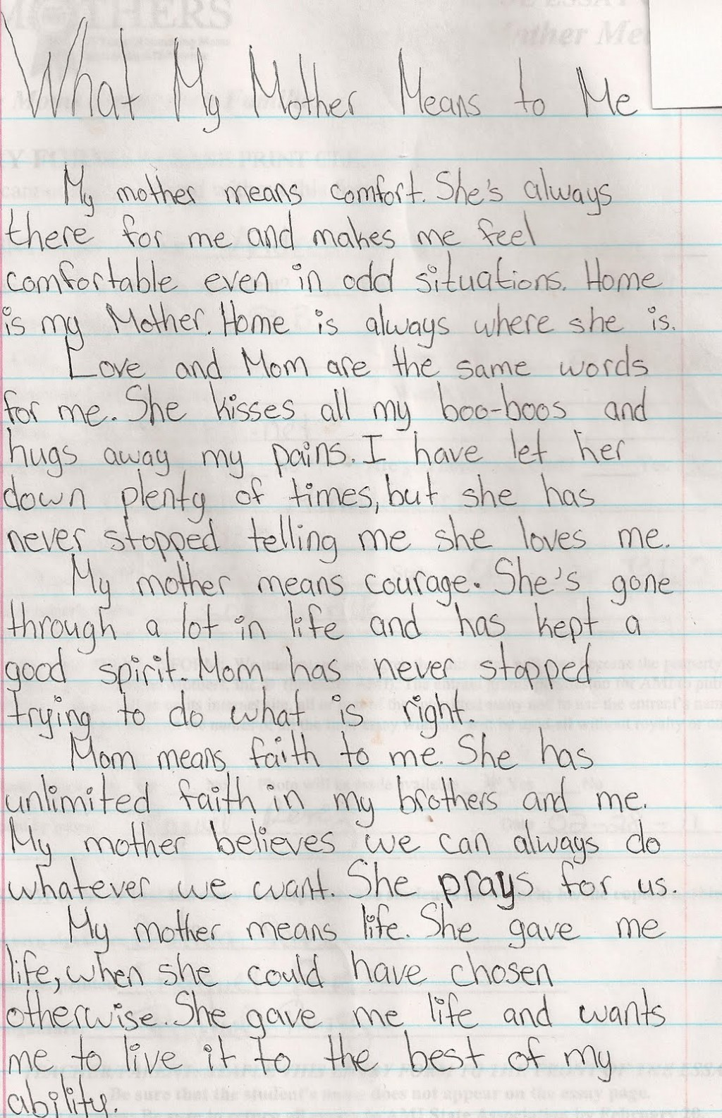 014 Essay About Admire My Mother Example Phenomenal Large