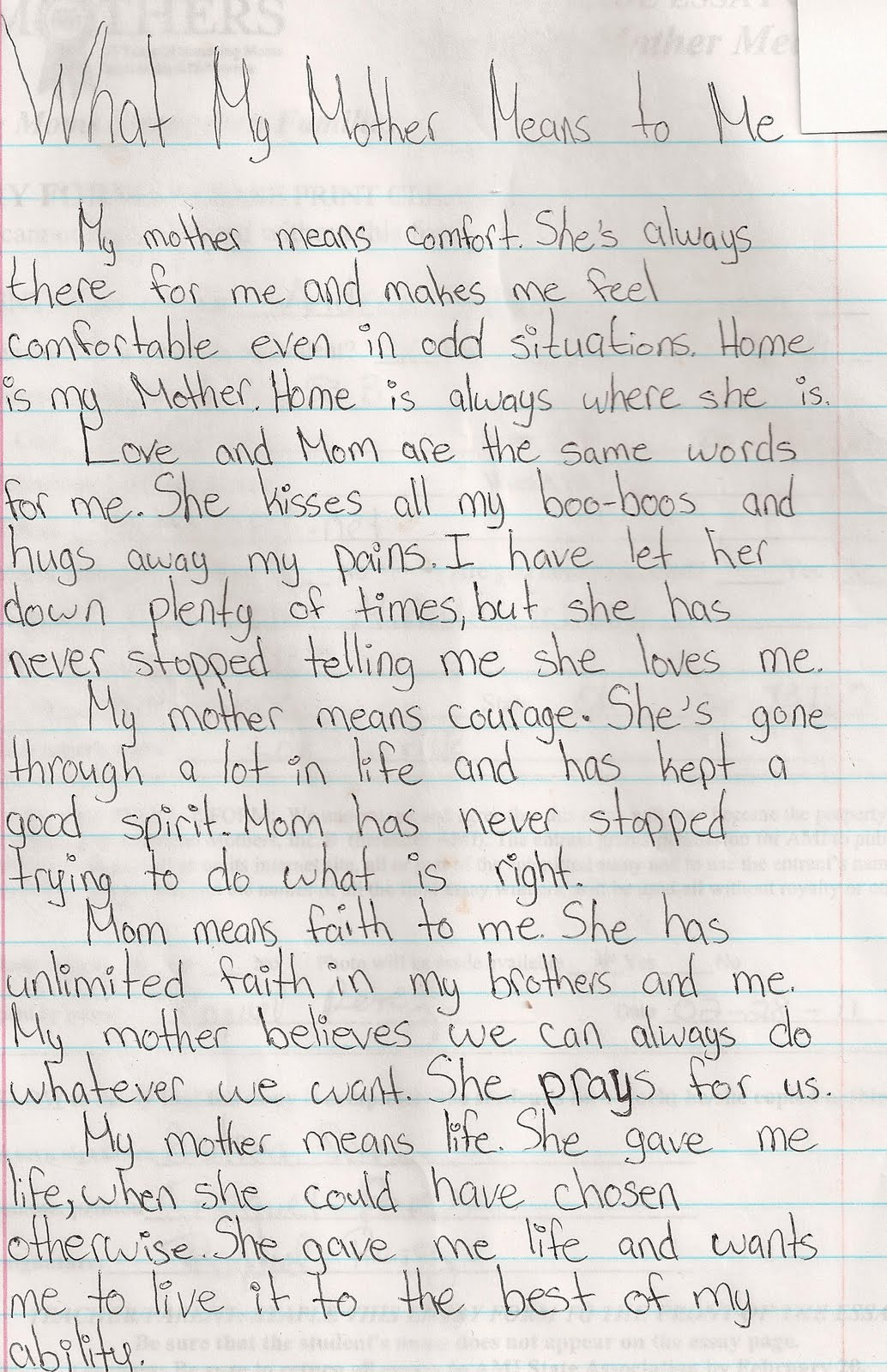014 Essay About Admire My Mother Example Phenomenal Full