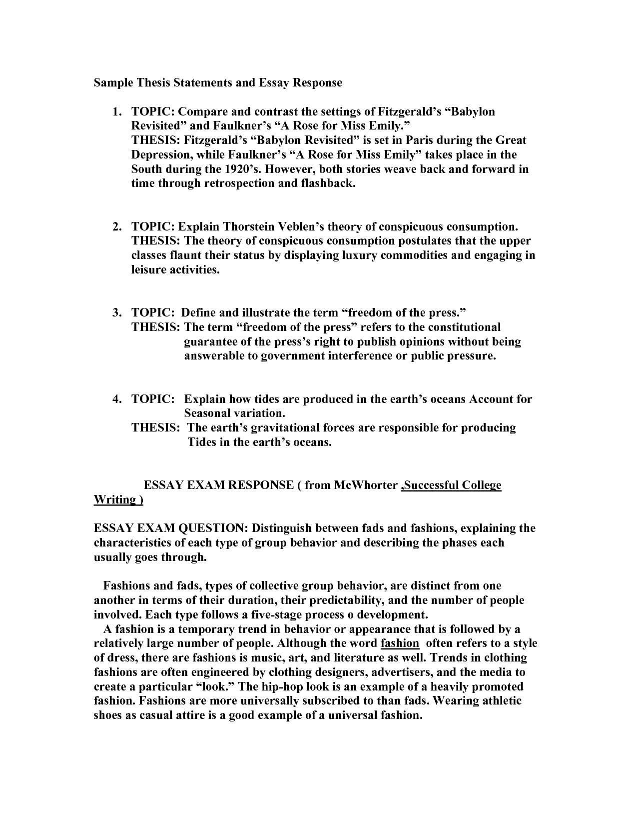Types Of English Essays  Examples Of Essay Papers also The Kite Runner Essay Thesis Thesis Essay Example The Best Way To Write A Thesis  Thesis Statements Examples For Argumentative Essays