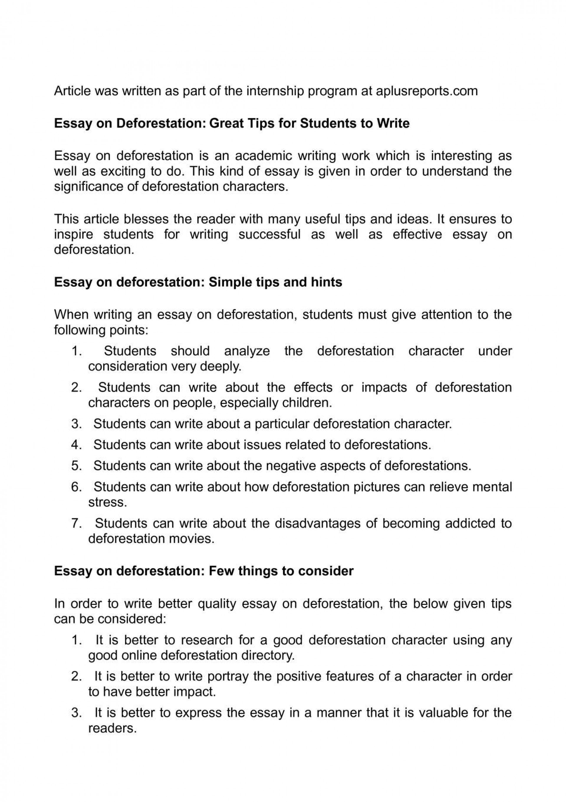 014 Essay Example Cause And Effect Stress Deforestation Argumentative On College Studen Students Exceptional Of Effects Among 1920