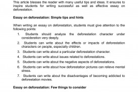 014 Essay Example Cause And Effect Stress Deforestation Argumentative On College Studen Students Exceptional Of Effects Among