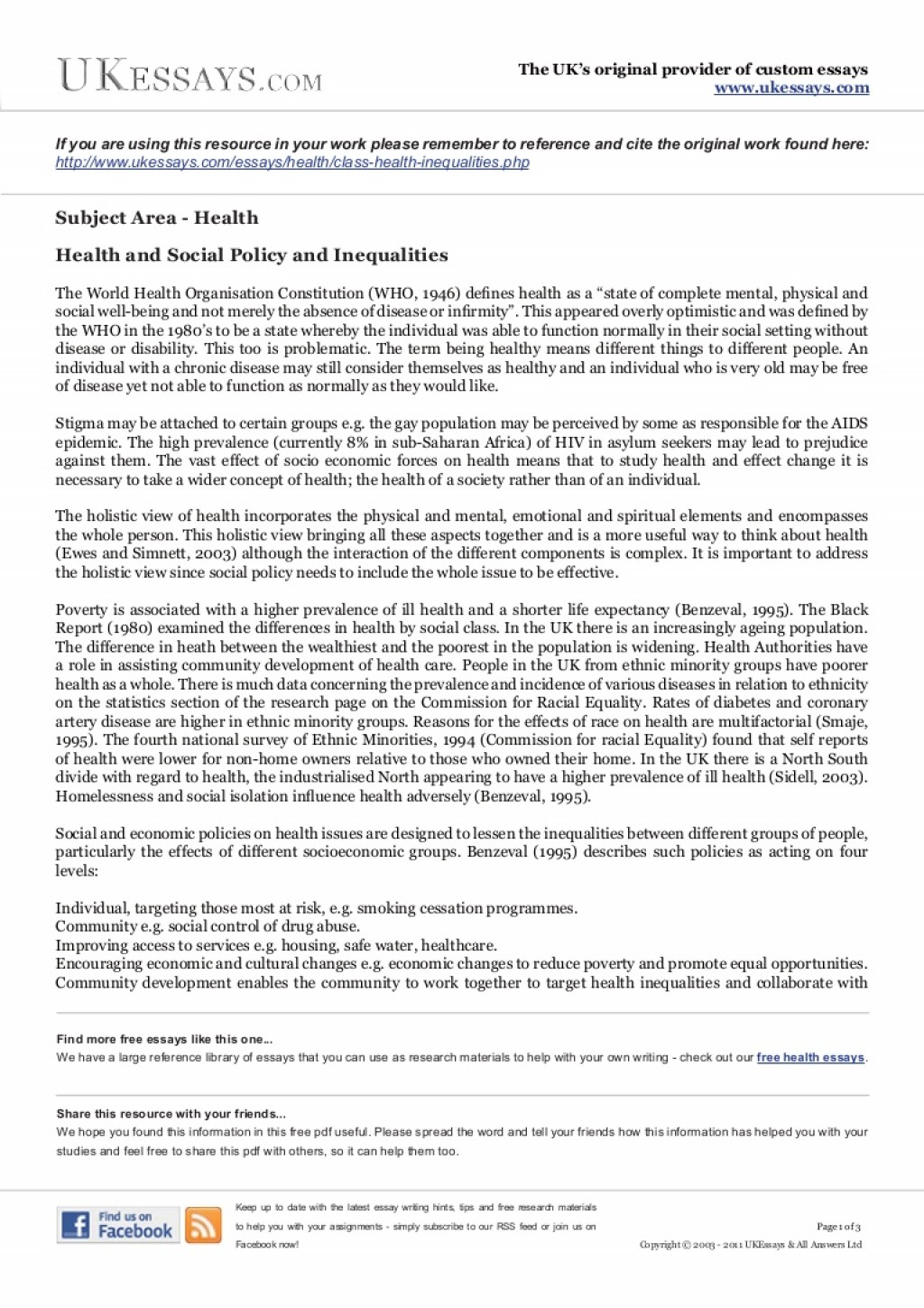 014 Essay Example Class Health Inequalities Phpapp02 Thumbnail Writer Amazing Free App Generator Software Download Large