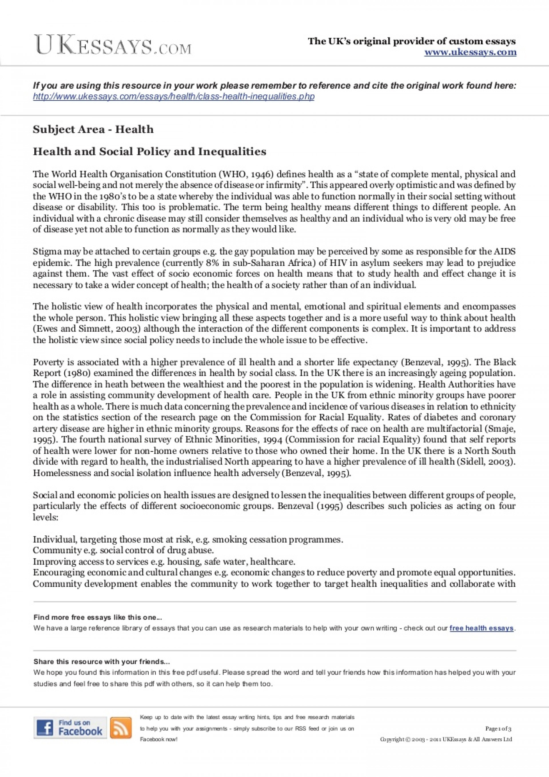 014 Essay Example Class Health Inequalities Phpapp02 Thumbnail Writer Amazing Free App Generator Software Download 1920