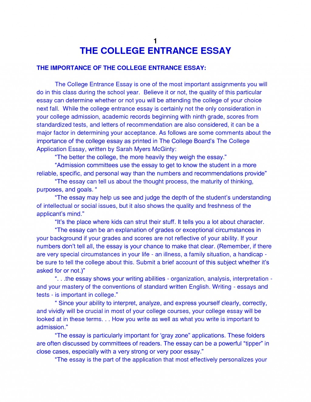 014 Essay Example College Admission Examples About Phenomenal Yourself Pdf Large