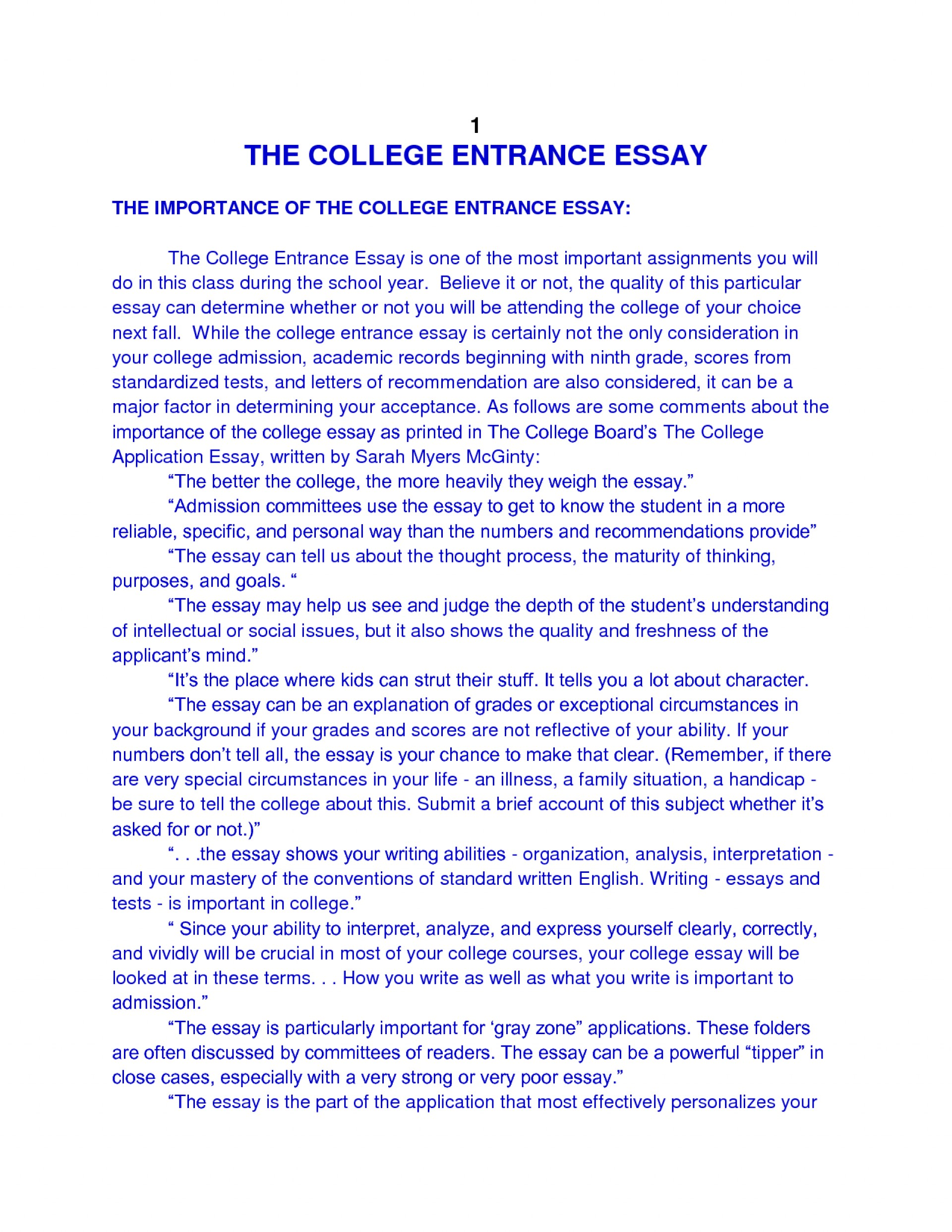 014 Essay Example College Admission Examples About Phenomenal Yourself Pdf 1920