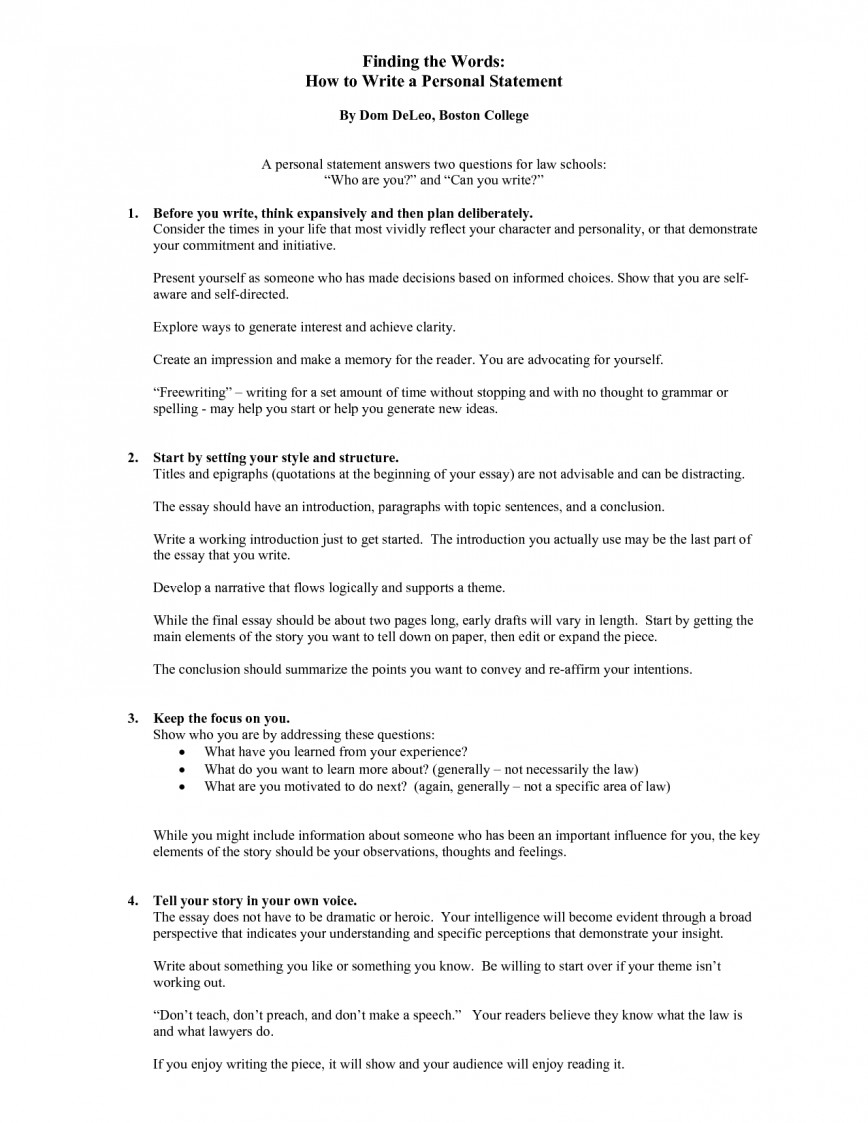 how to write a personal statement essay bond