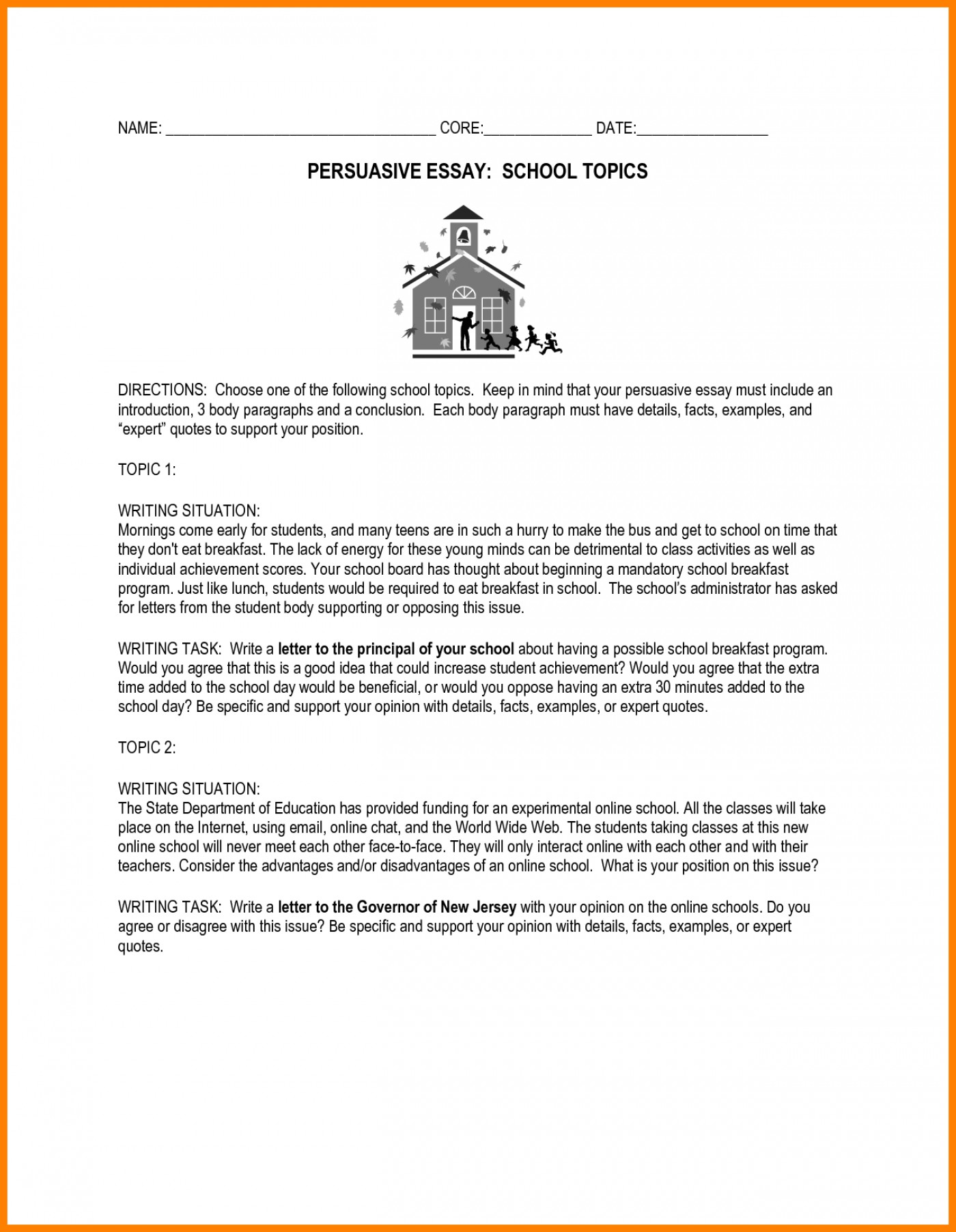 014 Essay Example Essays For Middle School Awesome Collection Of Persuasive Topics High Fabulous Prompts Shocking Informative Writing Leadership Students 1400