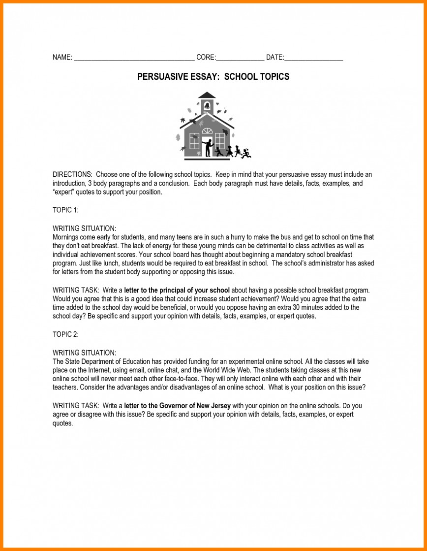 014 Essay Example Essays For Middle School Awesome Collection Of Persuasive Topics High Fabulous Prompts Shocking Informative Writing Leadership Students 868