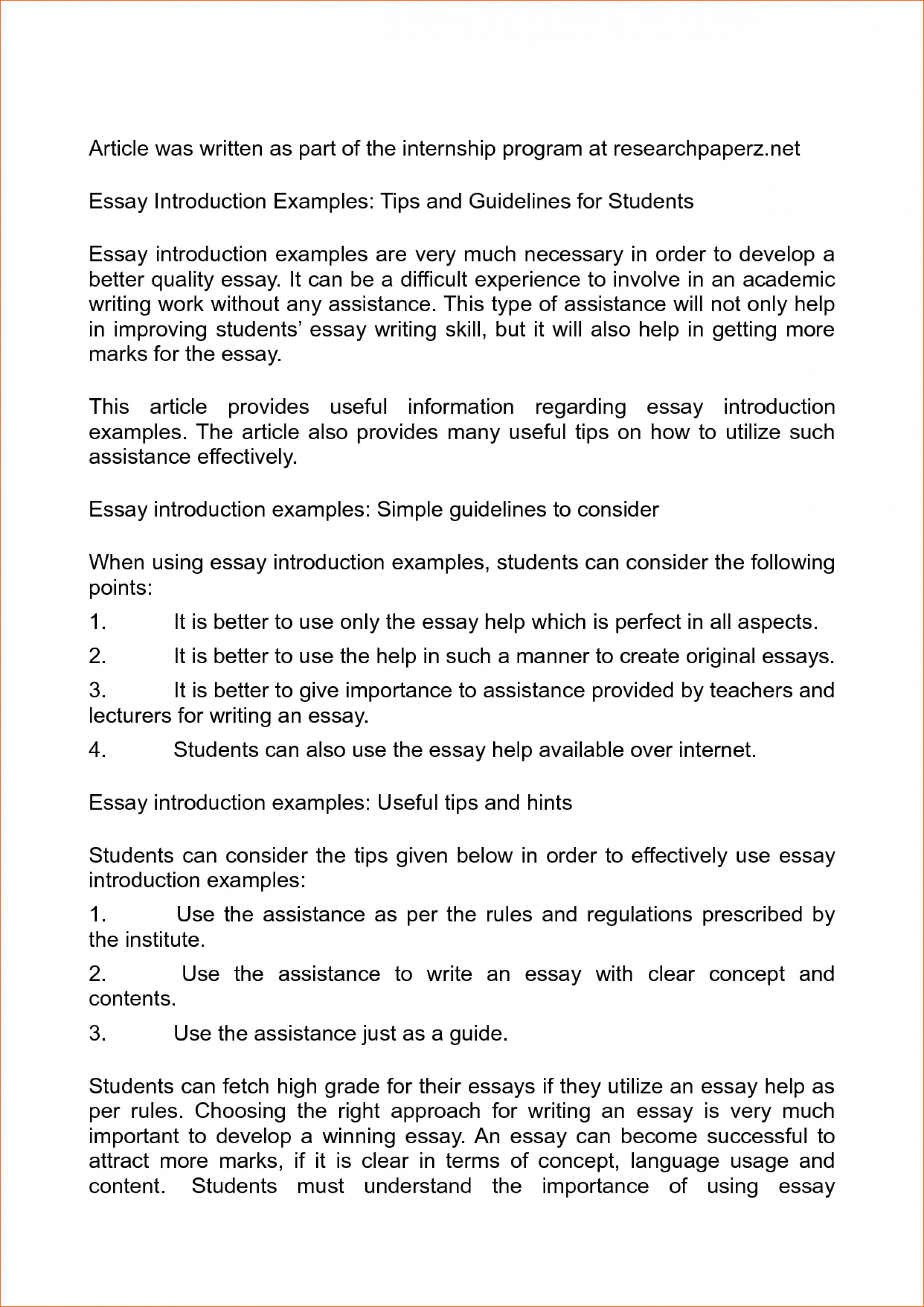 014 Essay Example Examples Of How To Start An Introduction Dreaded Informative Write About Yourself Pdf 1920