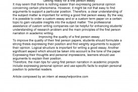 014 Essay Example First Person Stirring Narrative Sample