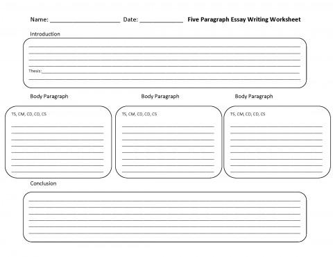 014 Essay Example Five Paragraph Lines Impressive 5 Outline Template Pdf Argumentative 480