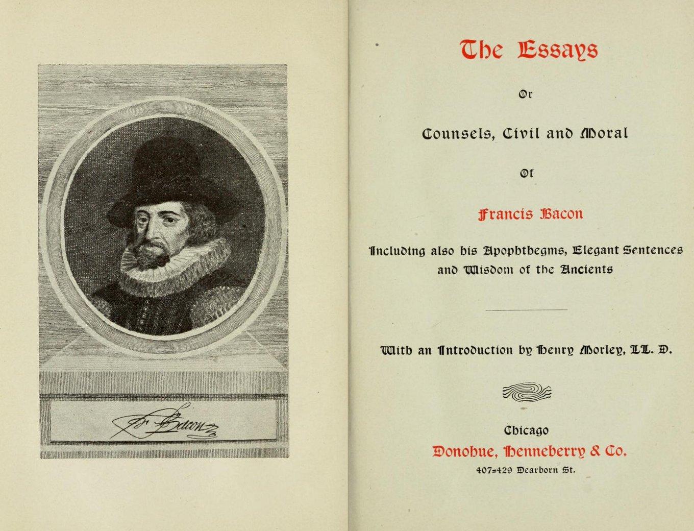 014 Essay Example Francis Bacon The Essays Amazing Bacons In Urdu Pdf Of Truth Summary Full