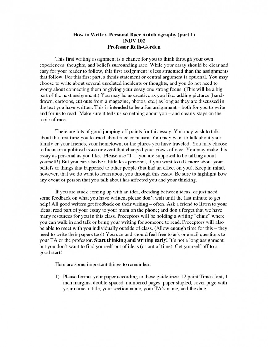 014 Essay Example How To Start Autobiography About Yourself Write Autobiographical For Scholarship College Biographical Examples On Make Narrative Myself Singular An Annotated Bibliography A Good 868