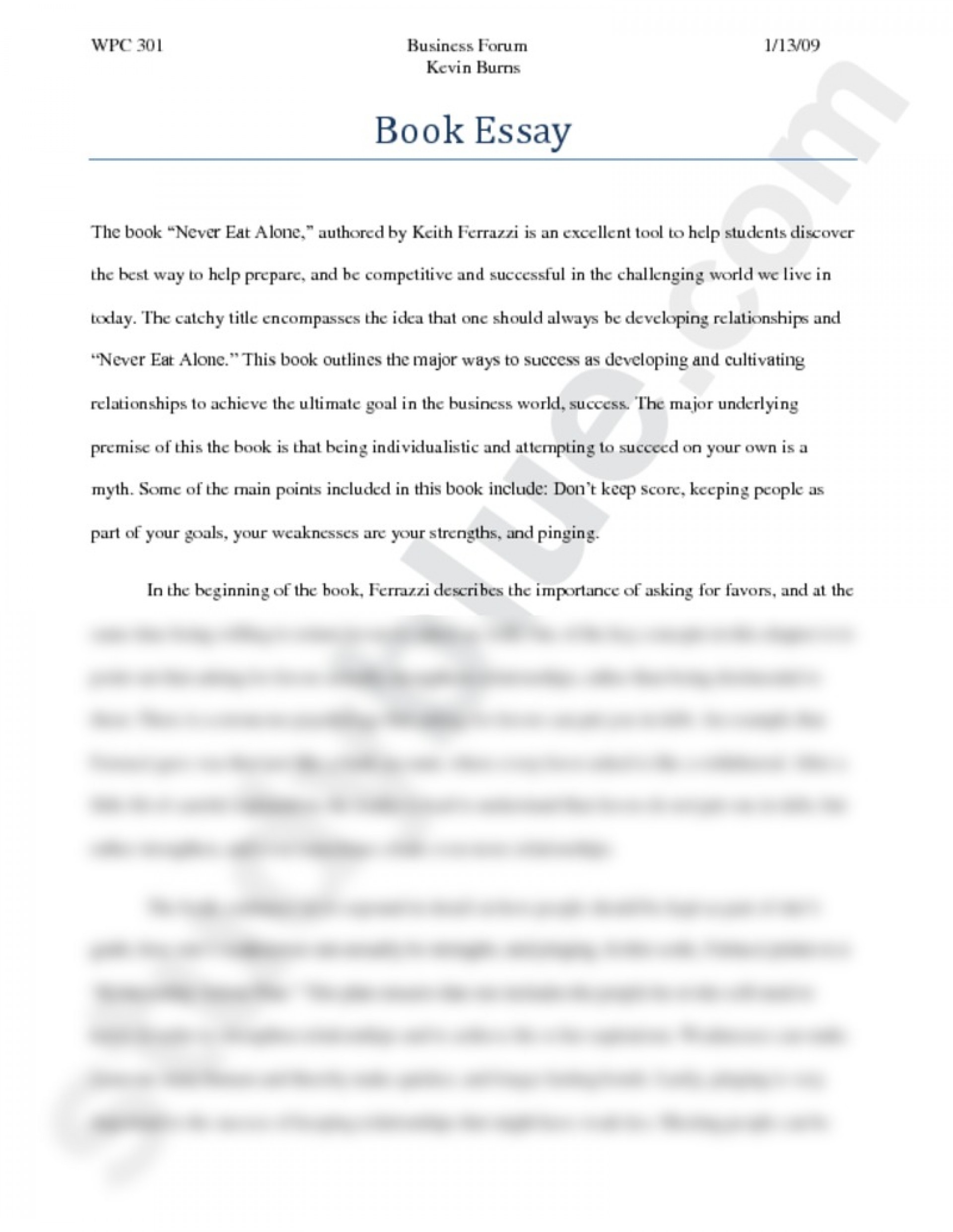 014 Essay Example On Success Sensational A Successful Person Is Someone Who Rich In Life Man's Final Goal Secret Of 1920