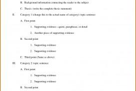 014 Essay Example Outline Of Informal Impressive Argumentative Sample Mla Format