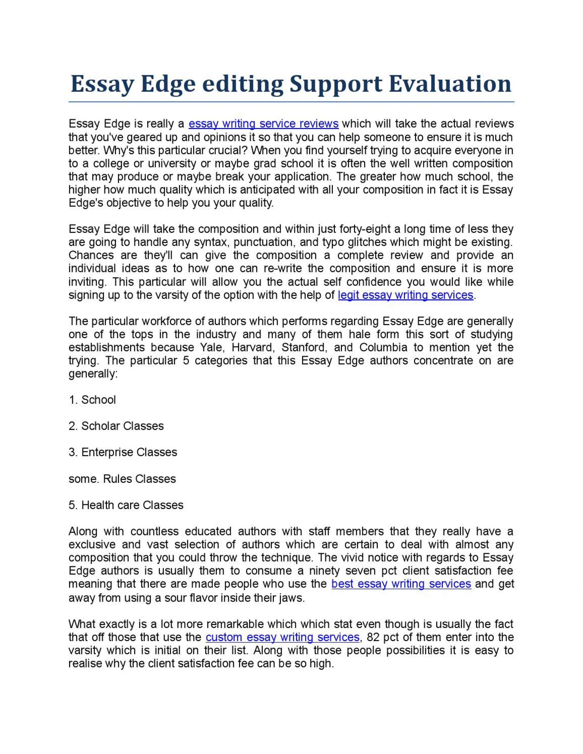 014 Essay Example Page 1 Unusual Edge Essayedge Personal Statement Review Pricing 1920