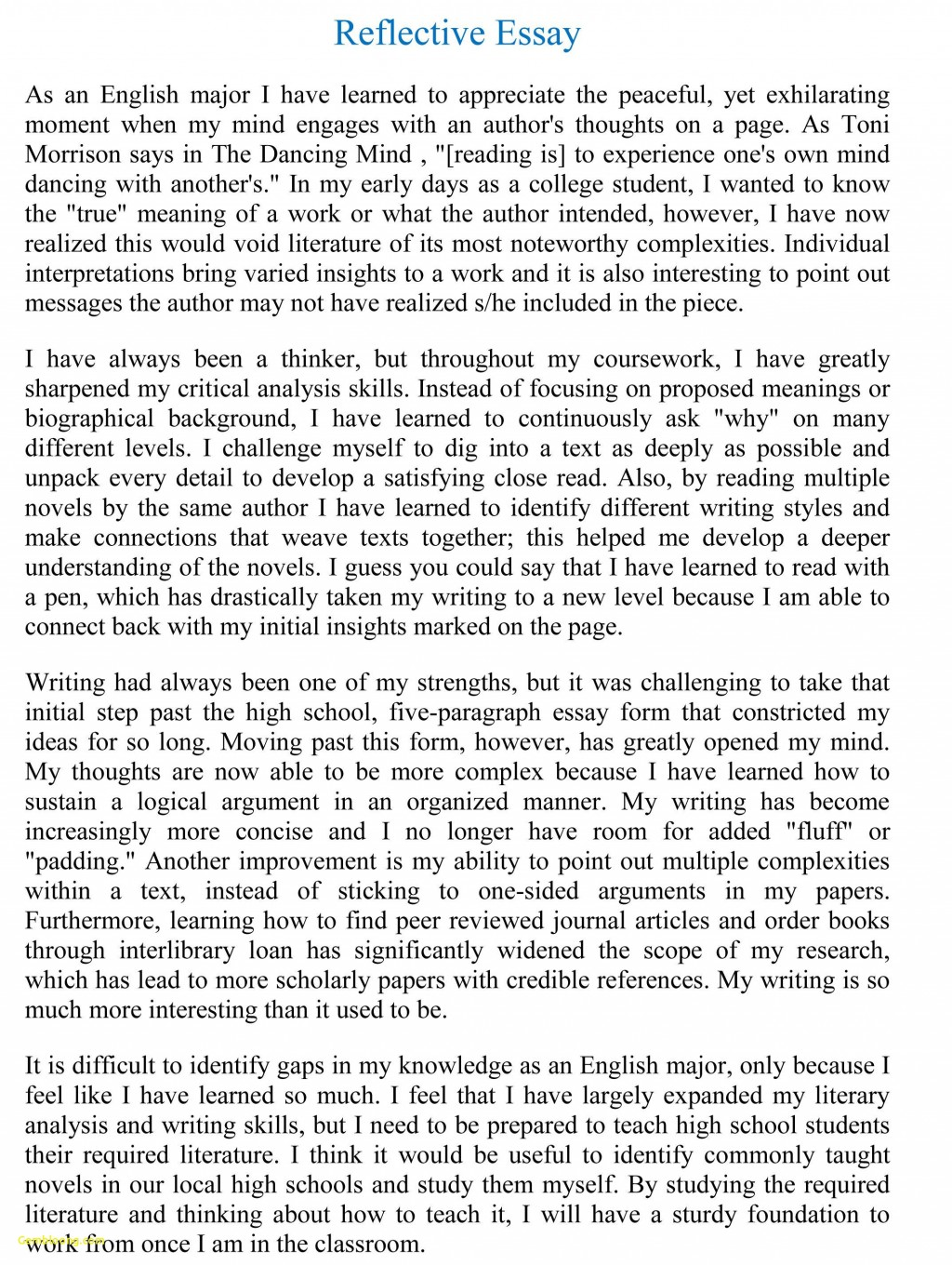 014 Essay Example Reflective Format Unique Writing Reflection Persuasive Phenomenal Paper Apa Large