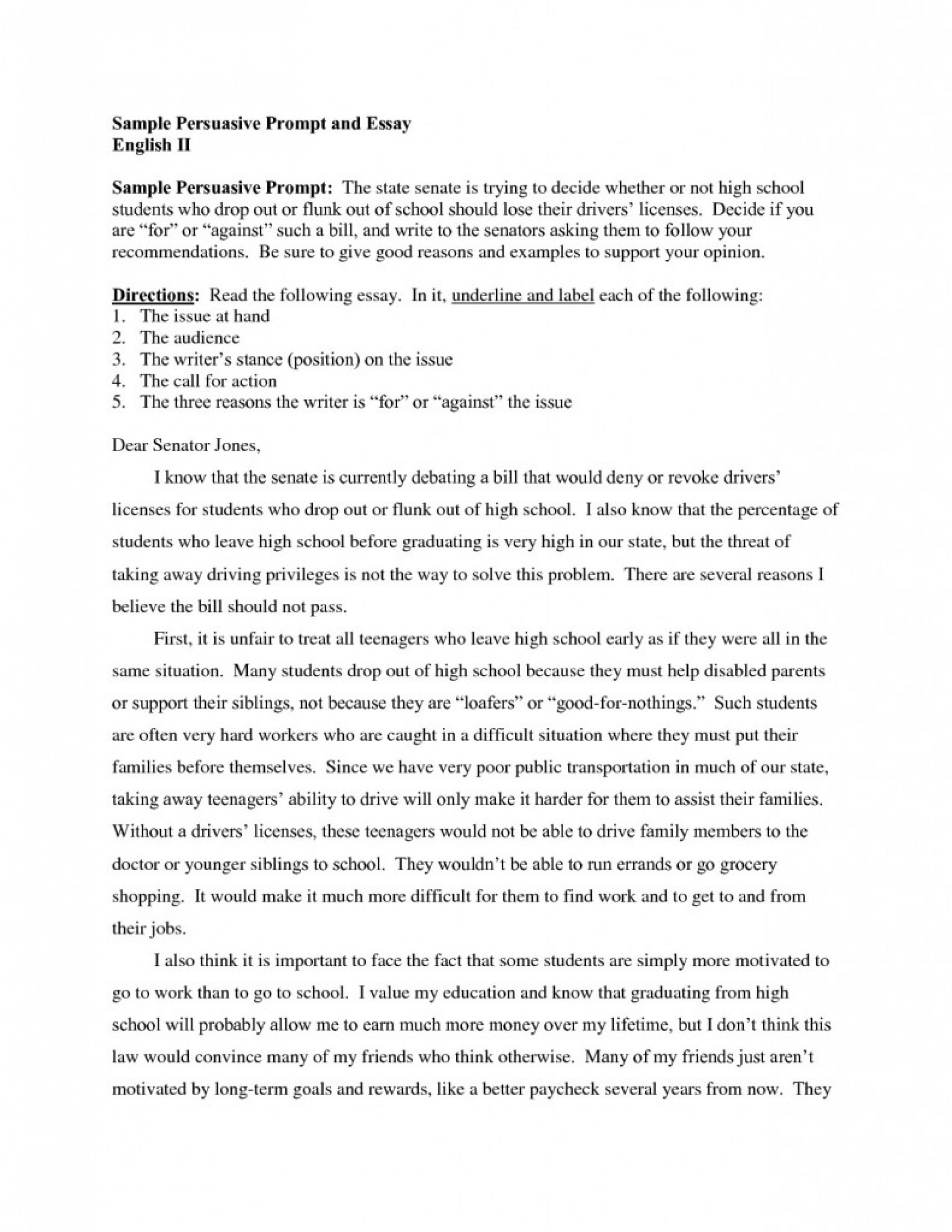 014 Essay Example Should College Free Persuasive Examples High School Writings And Essays Not Persusive Pertaini Argumentative Education For Everyone Textbooks Impressive Be 1920
