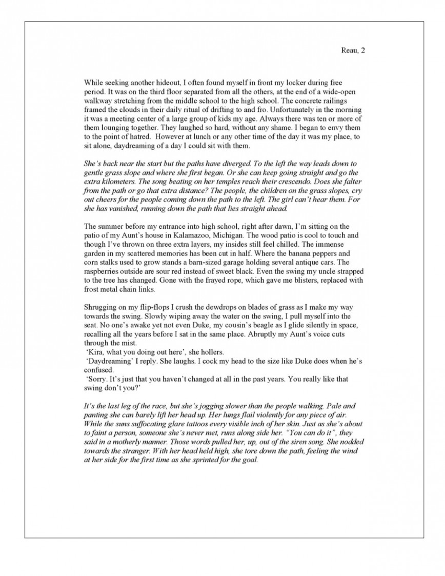 014 Essay Example The Life Of A Misanthrope Breathtaking Narrative Examples For High School 5th Grade 12 Pdf 868