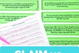 014 Essay Example The Thesis Statement Or Claim Of An Argumentative Outstanding Should Quizlet