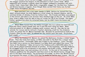 014 Essay Example Timeline Babe Ruth Of Magnificent Narrative About Yourself Introduction Friendship 320