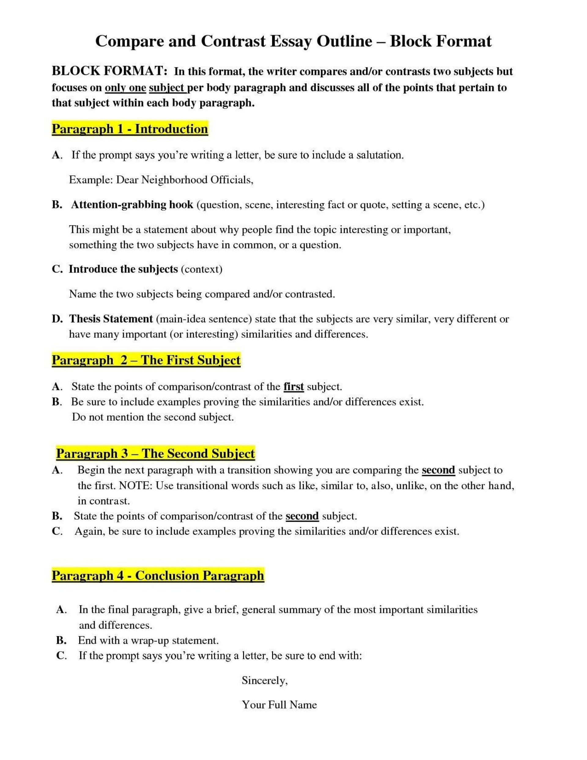 014 Essay Examplempare Andntrastmparison Best Examples Of Scenario In 6th Grade An Goo 3rd Food 5th Middle School Block Format Pdf High 4th Vs Striking Compare And Contrast Example For College Outline 1920