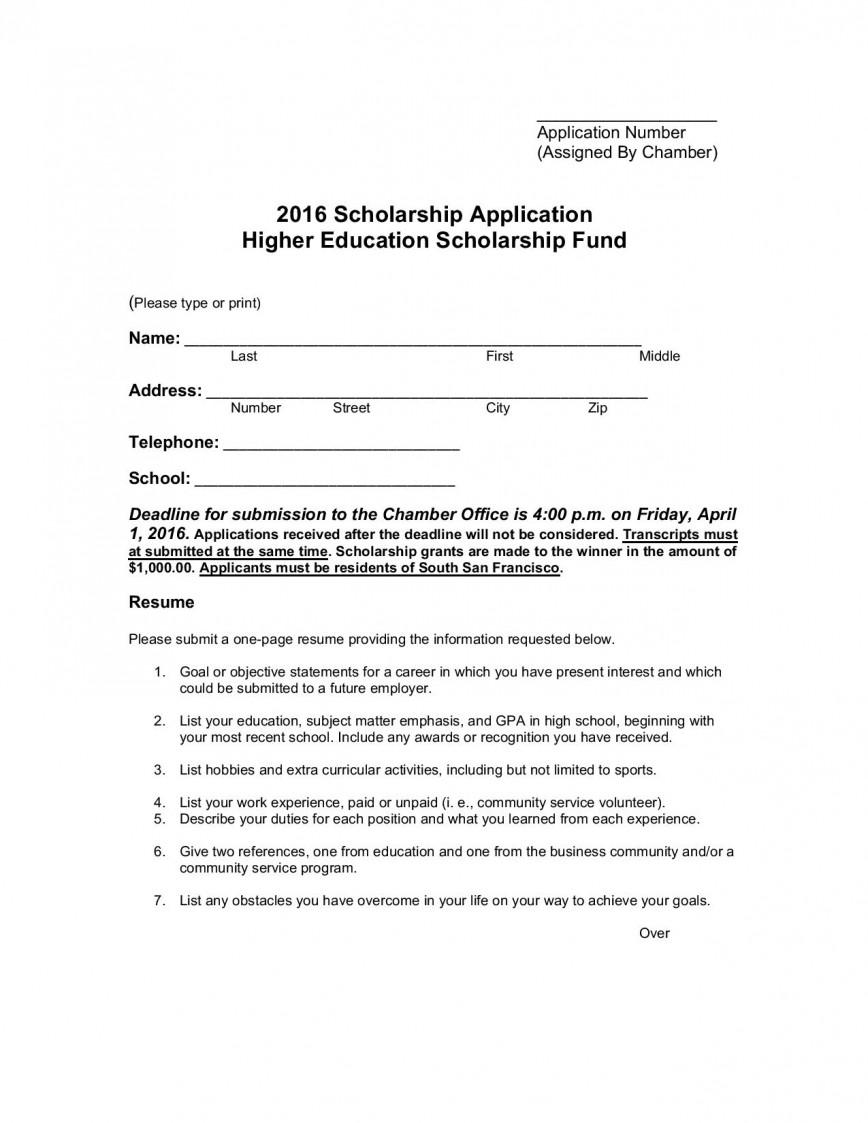 No essay scholarships for high school seniors