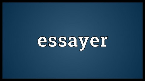 014 Essayer Maxresdefault Essay Impressive Conjugation French Passe Compose Definition Larousse In English 480