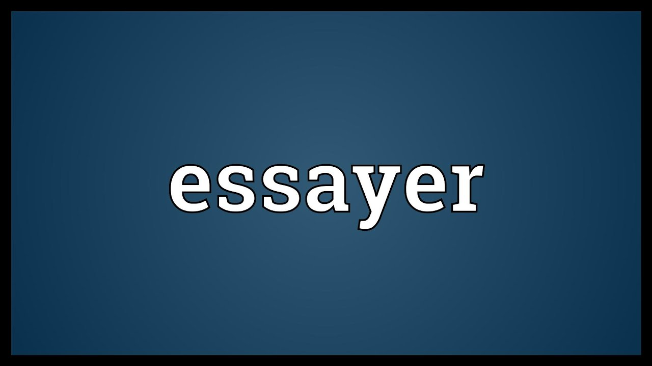 014 Essayer Maxresdefault Essay Impressive Un En Anglais Conjugation Passé Simple Full