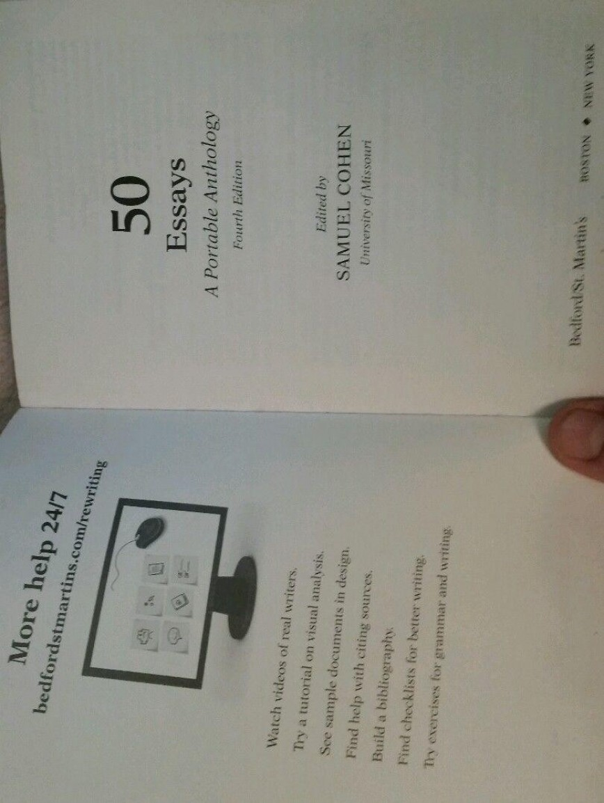 014 Essays Portable Anthology 4th Edition Essay Example 1 691ffa7614e18dc0217250786658c36a Rare 50 A Online Pdf Audio