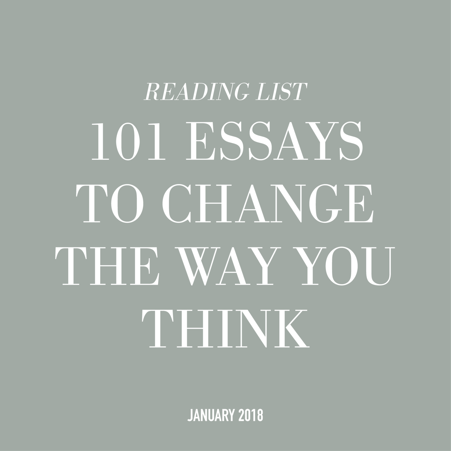 014 Essays That Will Change The Way You Think Essay Example 101essays Unusual 101 Book Depository Barnes And Noble Review Full