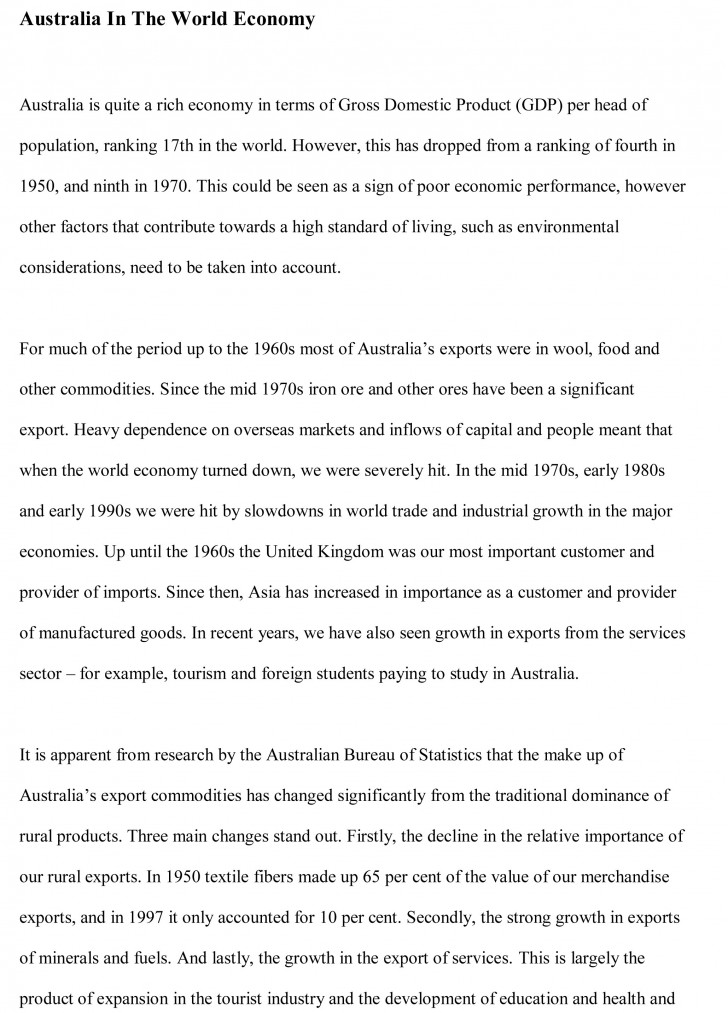 014 Globalization Conclusion Essay Example Economics Free Wonderful 728