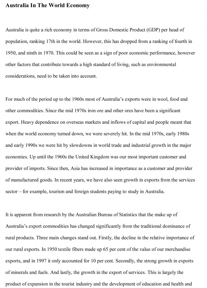 014 Globalization Conclusion Essay Example Economics Free Wonderful 868