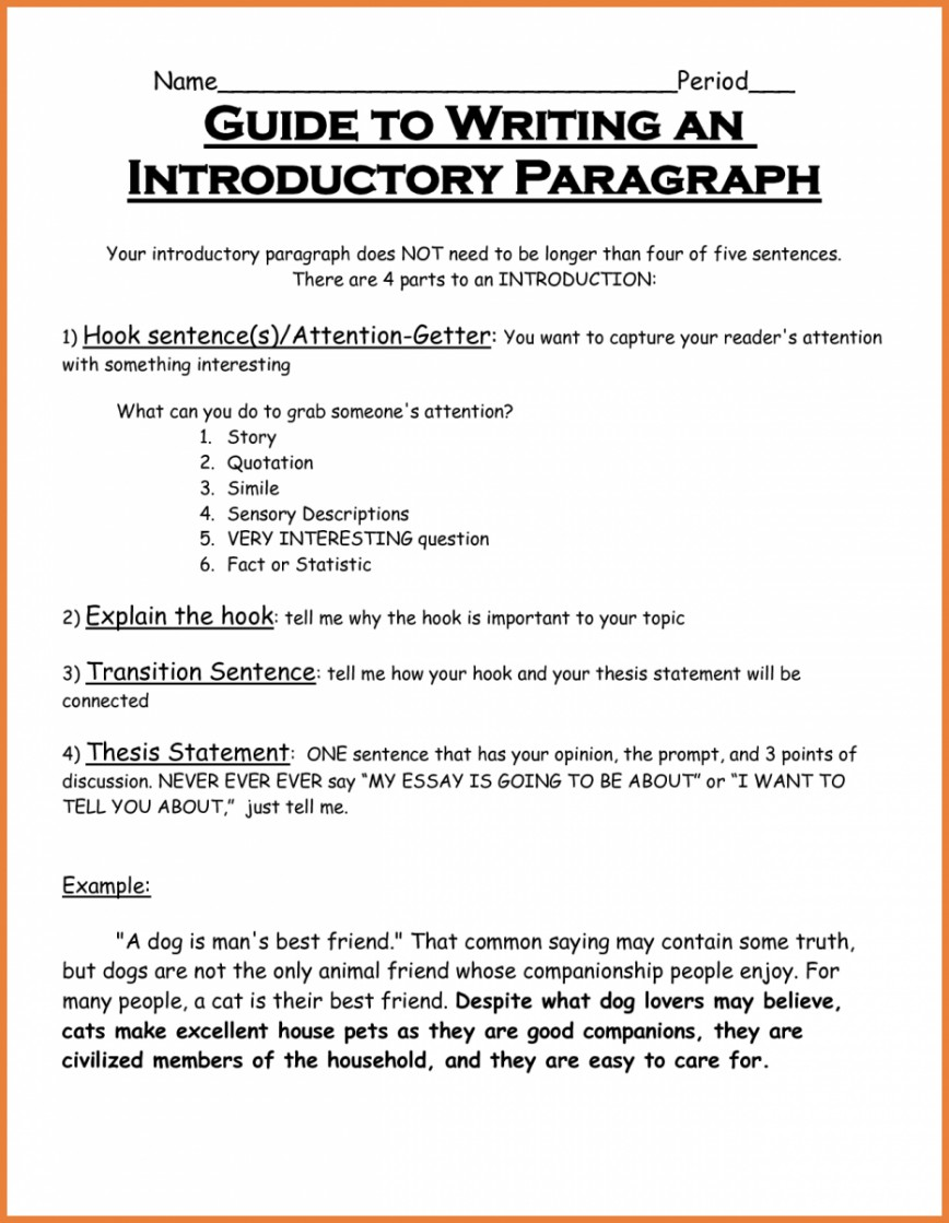 014 How Many Sentences Are In Paragraph For An Essay Example Wondrous A Topic 5 Each Of Typical Academic