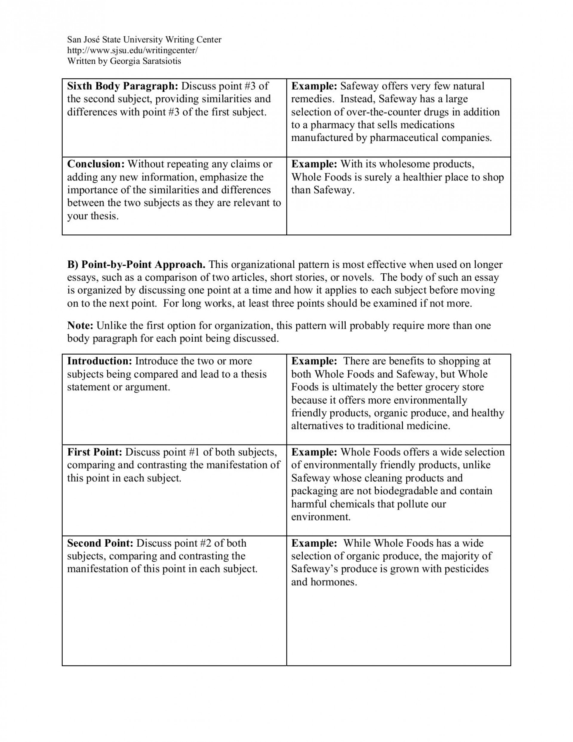 014 How To Do Compare And Contrast Essay Outstanding A Start Write Mla Format Middle School 1920