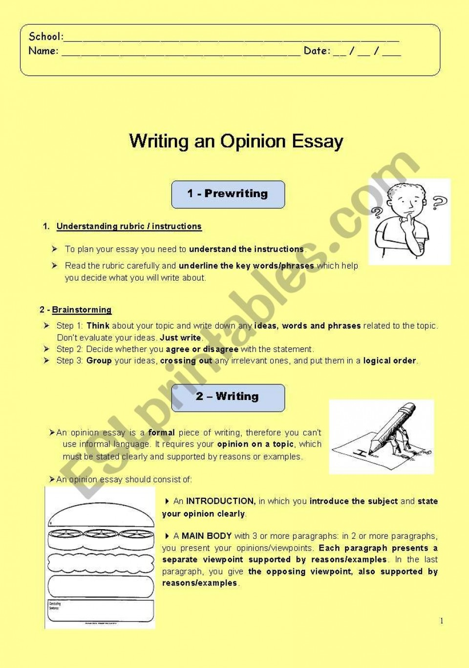 014 How To Write An Opinion Essay 519469 1 Unbelievable 3rd Grade College 960