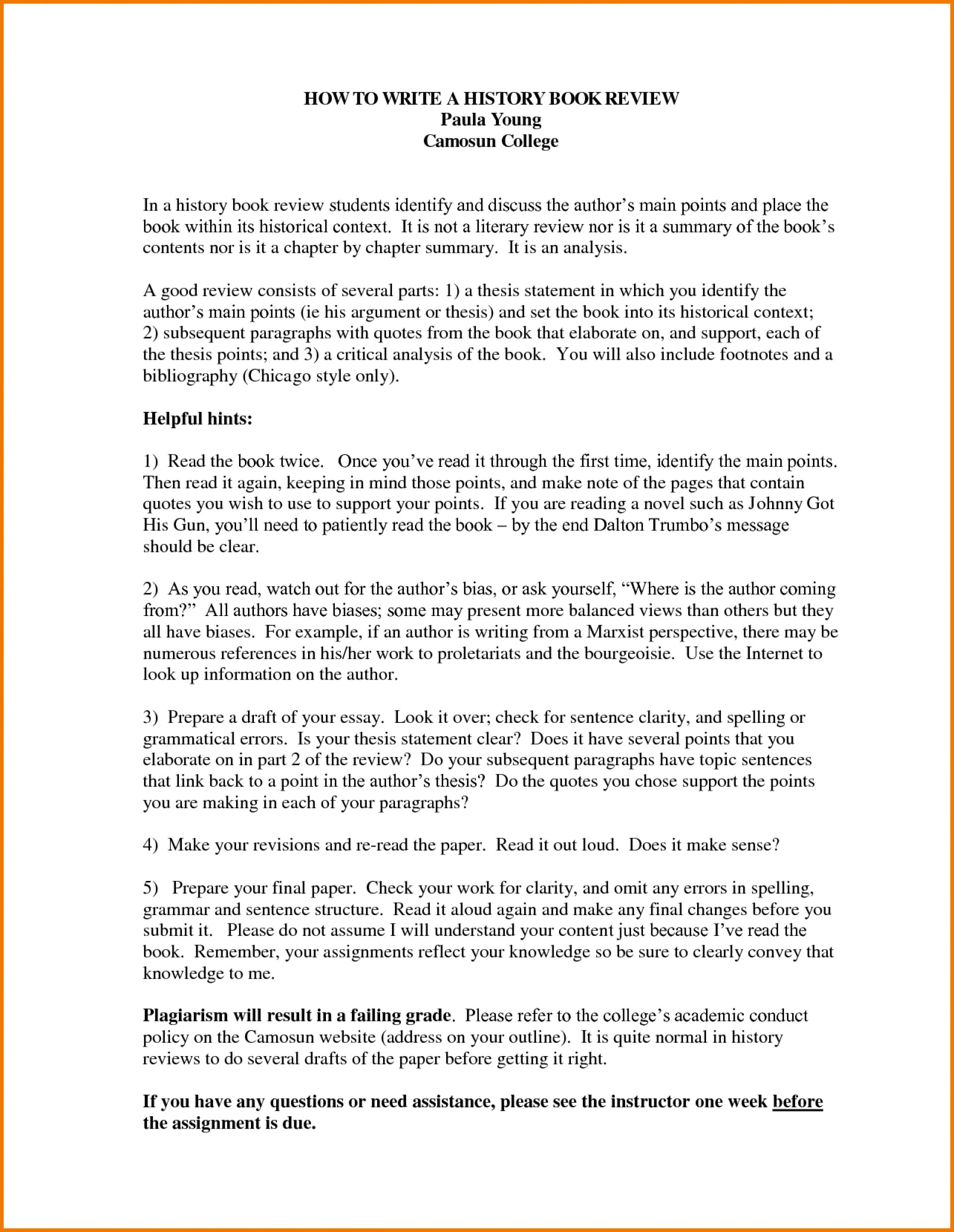014 How To Write Book Review Essay Example Unusual A Pdf Paper Thesis 1920