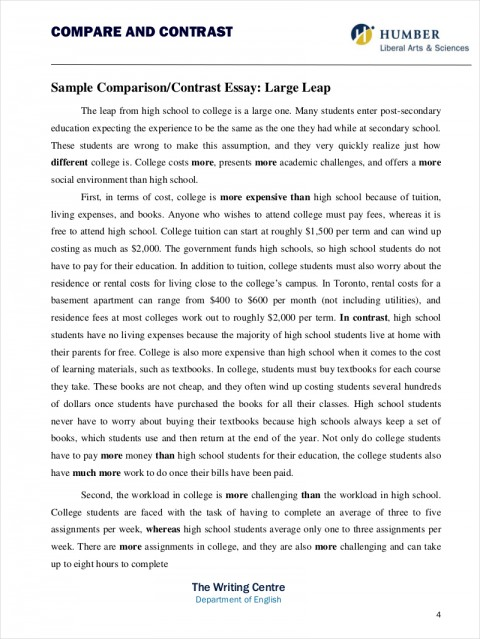 014 How To Write Compare And Contrast Essay Example Comparative Samples Free Pdf Format Download Throughout Examples Comparison Thesis Coles Thecolossus Co Within Ex Outstanding A Block Conclusion Paragraph For 480