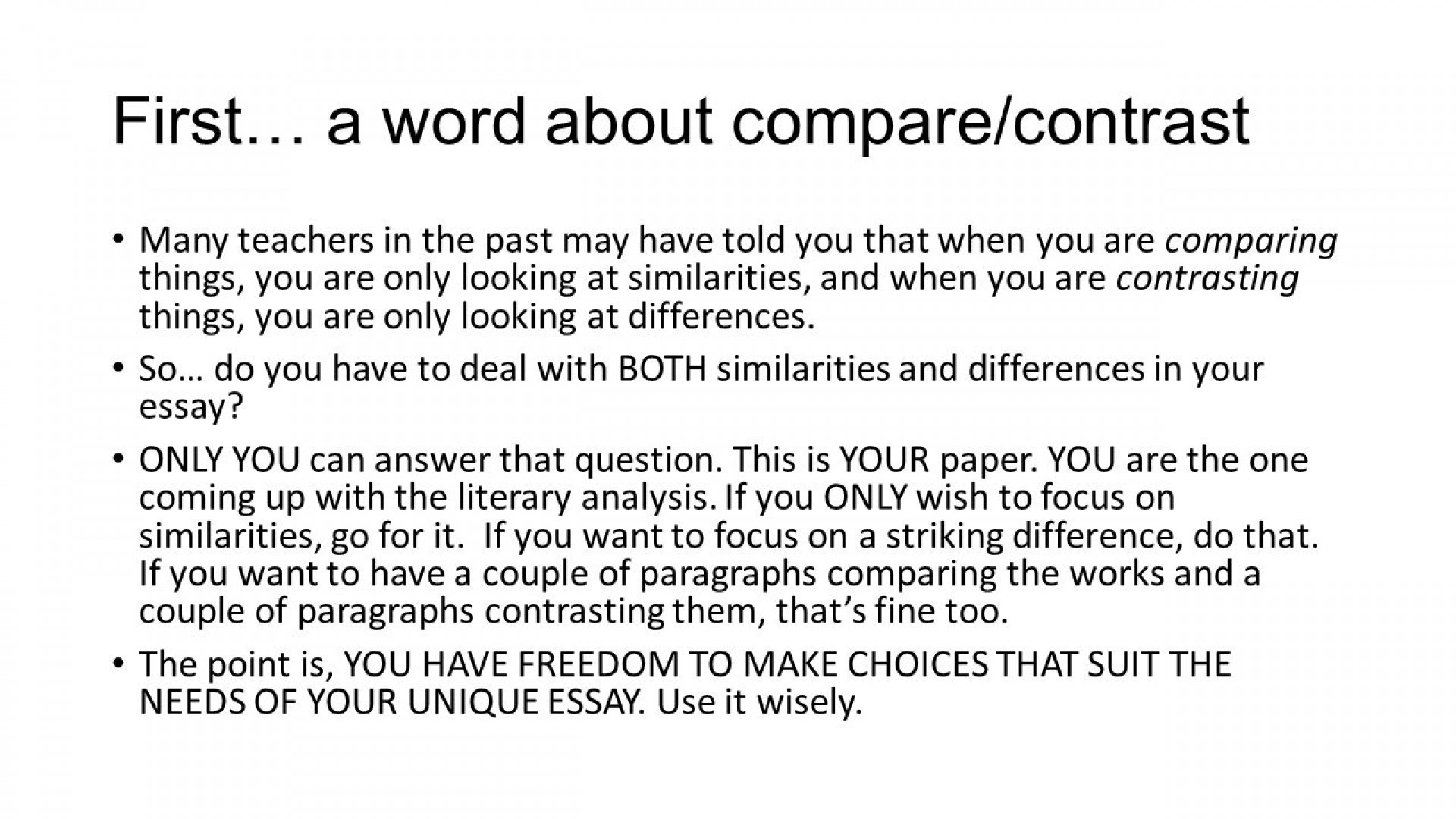 014 How To Write Compare And Contrast Essay Writing About Literature Ppt Powerpoint For Middle School Sl Download Free Presentation Persuasive Argumentative College Slideshare Striking Block Method Conclusion 1920