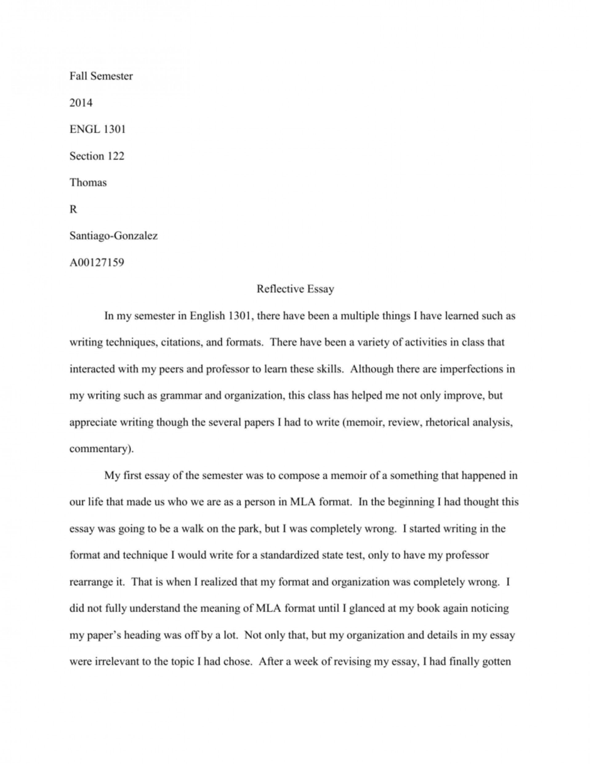 014 How To Write Reflective Essay 007151533 1 Staggering A Thesis First Class 1920