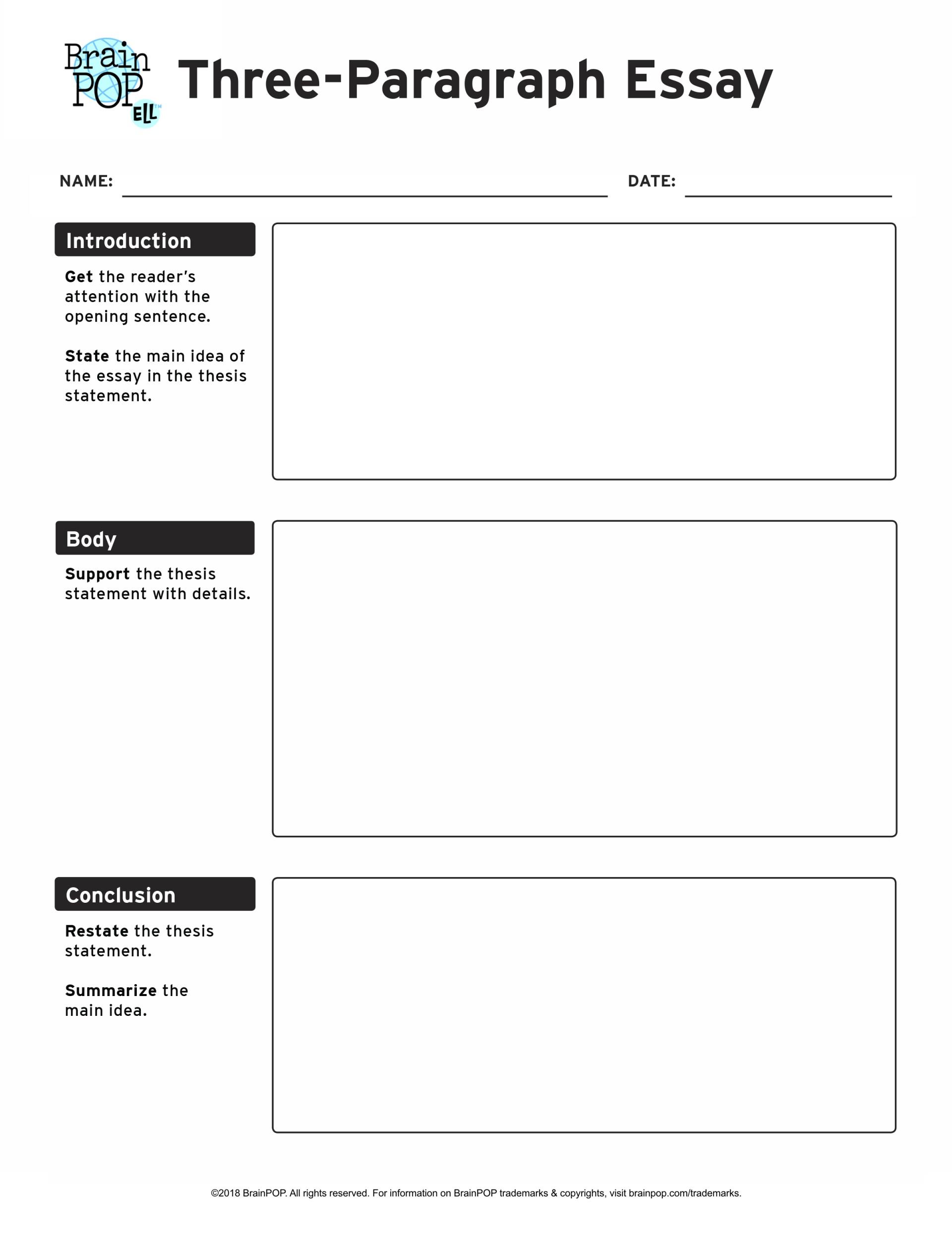 014 Informative Essay Graphic Organizer Three Paragraph Fascinating Free Informational Pdf 6th Grade 1920